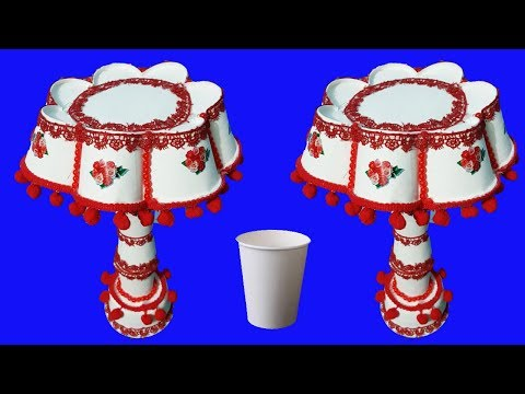 how to make table lamp with disposable glass   paper cup table lamp  new style lamp