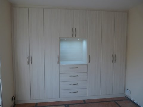 Wardrobe Built In Sloping Wall Avola Larch Led