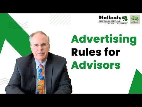Advertising Rules for Advisors