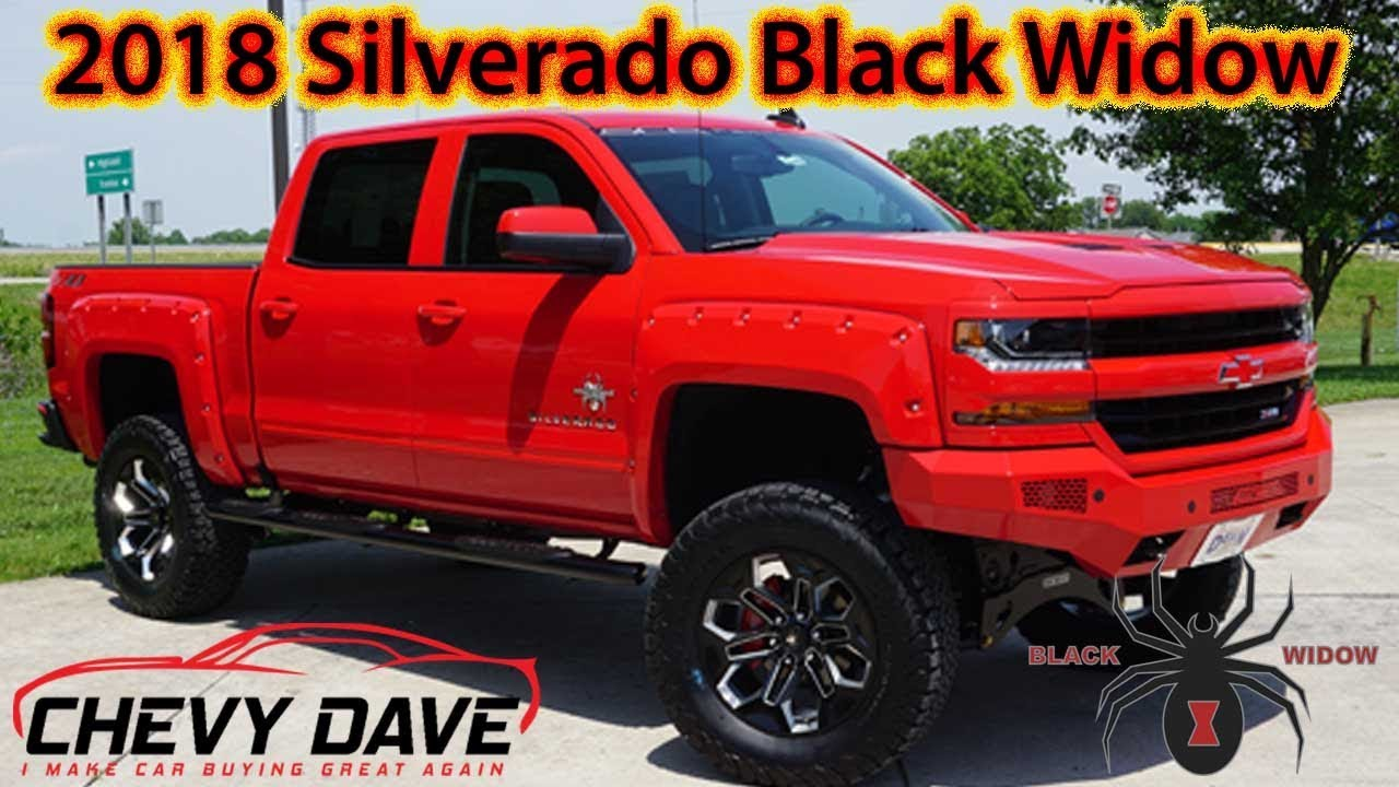 2018 Red Silverado Black Widow Edition Review Youtube