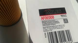 Обзор на Фильтр масляный MILES AFOE008