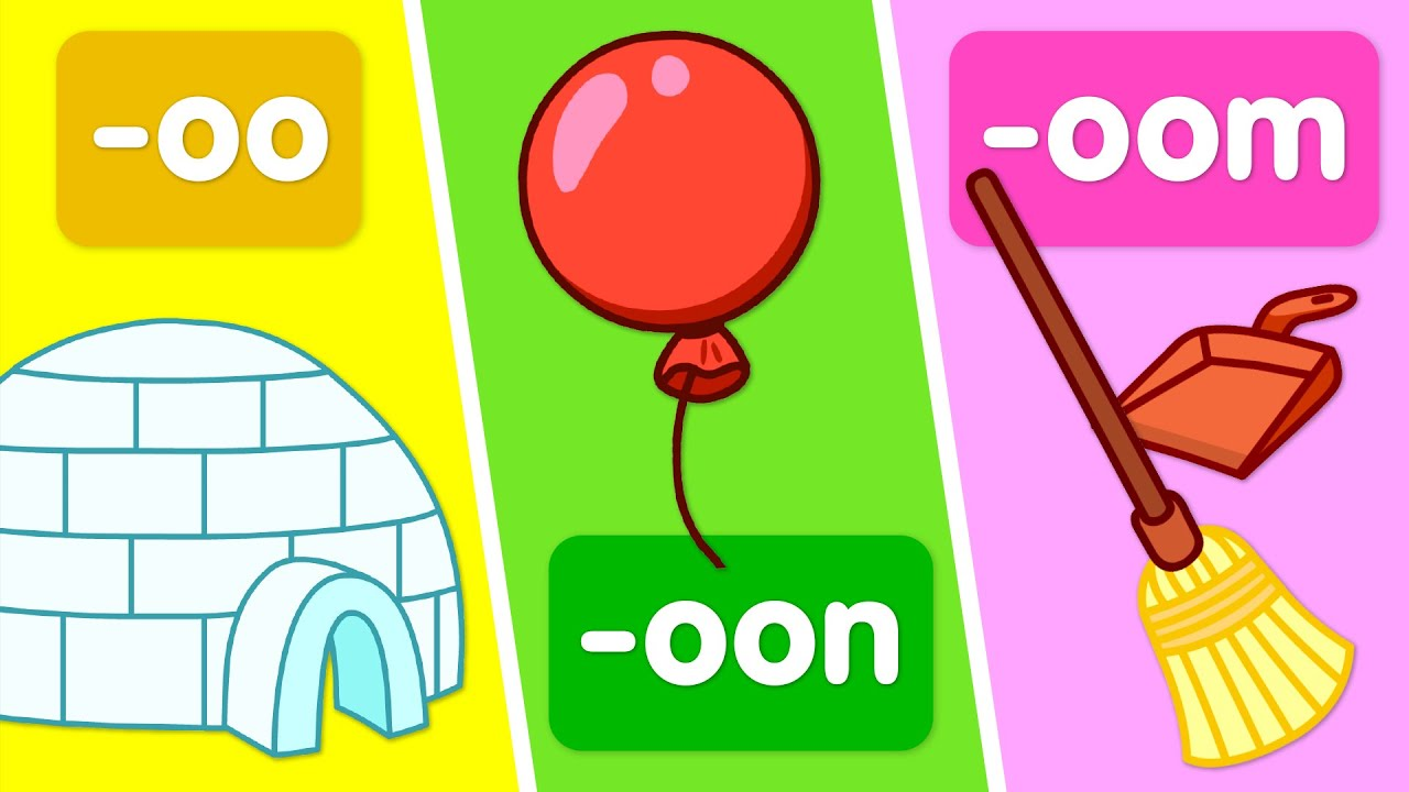 """Turn & Learn: Word families that use the """"oo"""" sound"""