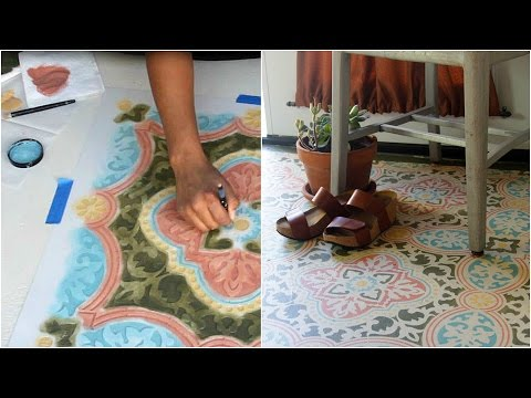 How To Stencil A Concrete Floor In 10 Easy Steps With Annie Sloan Chalk Paint®