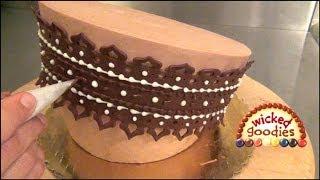 Modeling Chocolate Lace Garter Belt