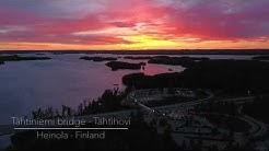 Tähtiniemen silta - Teboil Tähtihovi, Heinola. Dronevideo