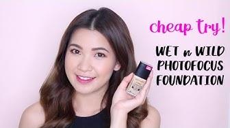 CHEAP TRY! ~ THỬ ĐỒ HỢP TÚI || WET n WILD PHOTOFOCUS FOUNDATION