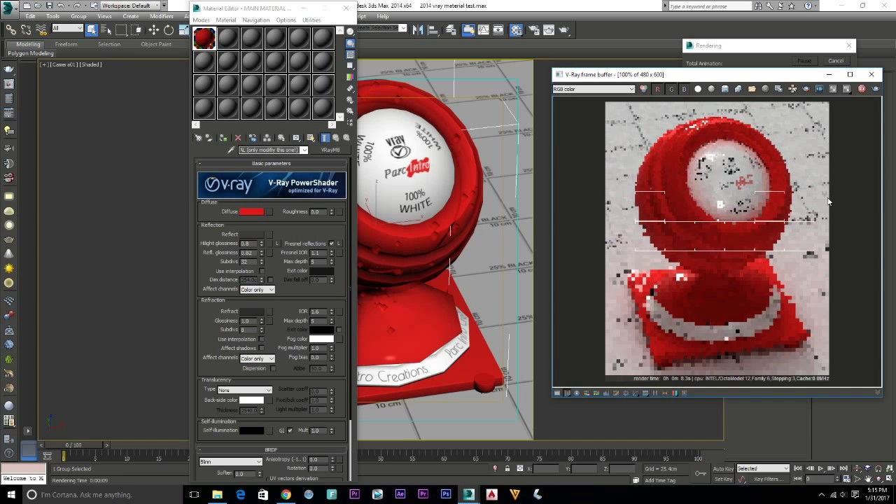 How To make Vray Material | RED Plastic Vray 3 3 | 3ds max material library  download EP #14