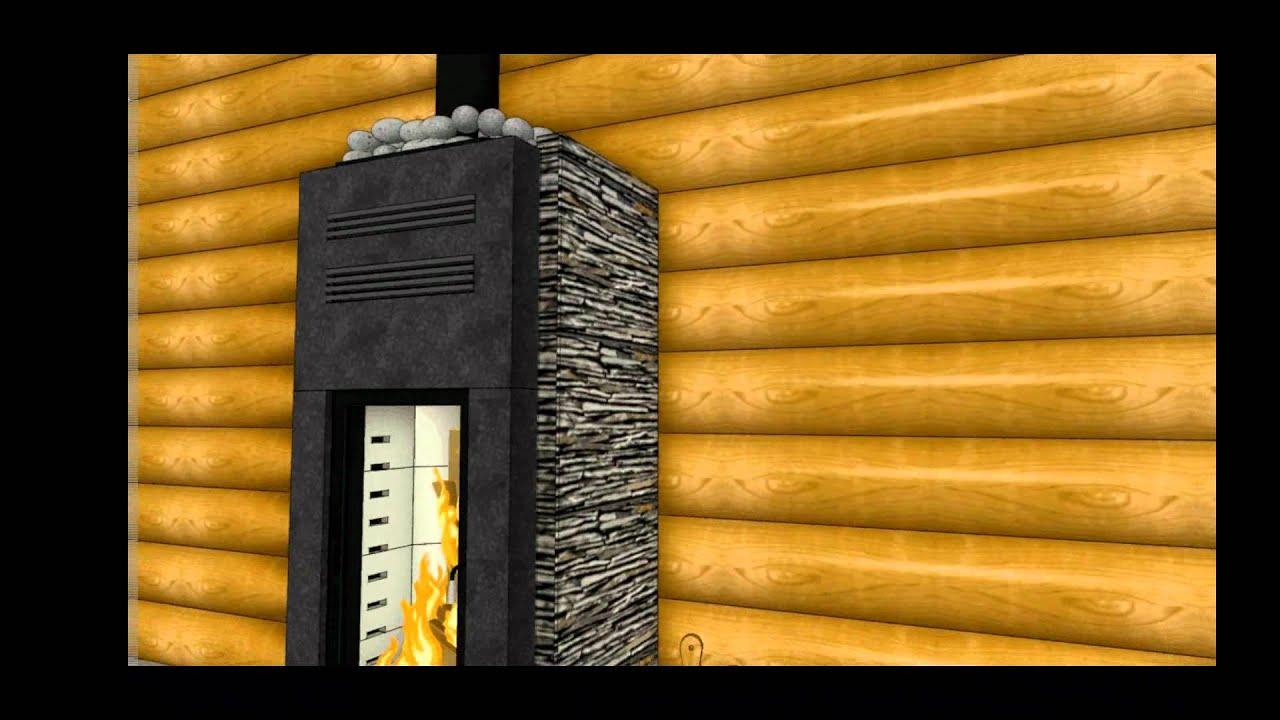 Saunaofen Holz Beheizt Sichtfeuer