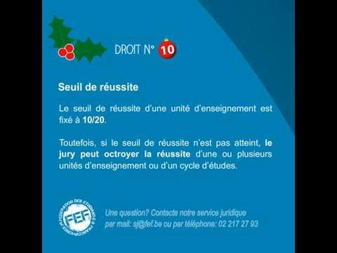 Tes droits et obligations en examens pour la session de Noël - 10