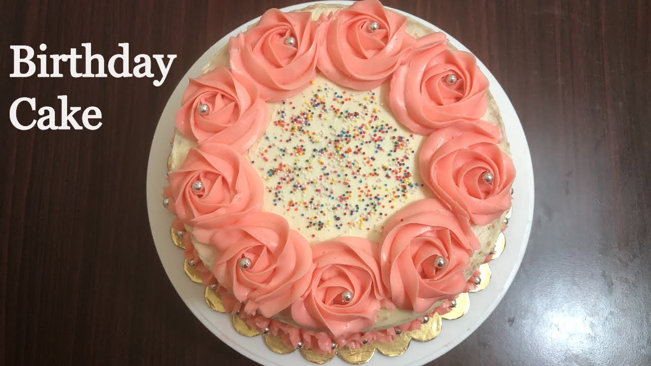 Download Birthday Cake with Buttercream Frosting | Buttercream Frosting Cake | Sponge Cake | Cake Recipe