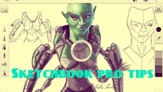Sketchbook pro tips for android and ipad