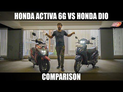 honda-activa-6g-vs-honda-dio-2020-comparison- -hindi- -motoroctane