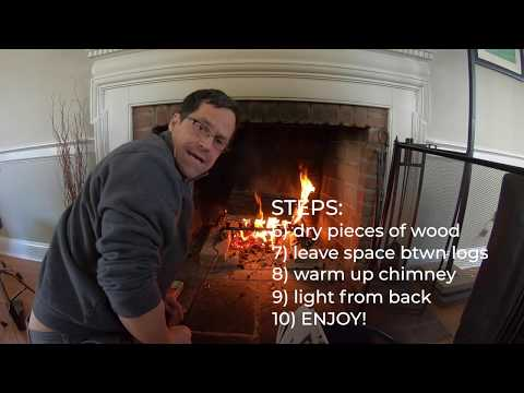 HOW TO BUILD A COZY FIRE