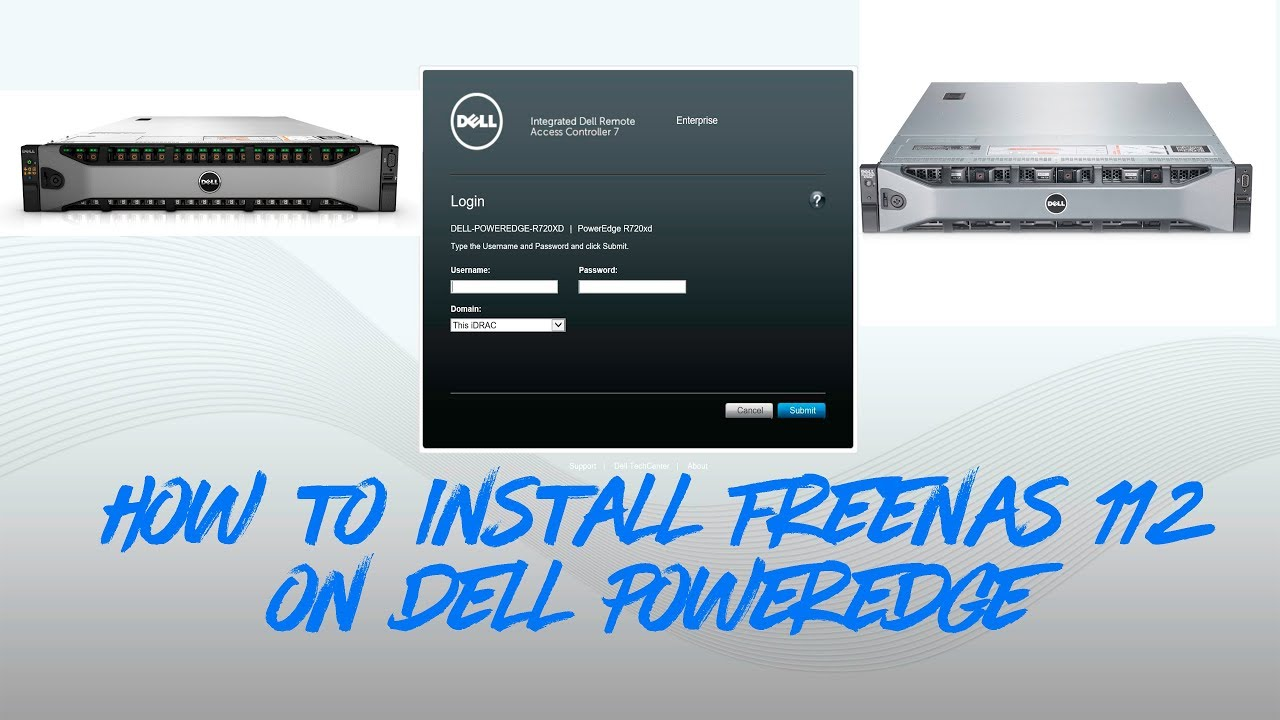 How to Install #FreeNAS-11 2-RELEASE on #Dell #PowerEdge R720xd utilize  #iDRAC Virtual Media