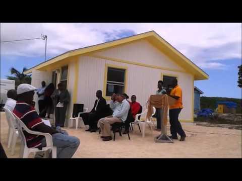 Hurricane Joaquin Victims Receive Brand New Homes - Long Island, The Bahamas