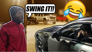 PEER PRESSURING DRIFTSTANG AT CAR MEET!!