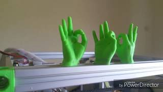 DIY 3D printer coreXY first print .test Wanhao OK Hand print