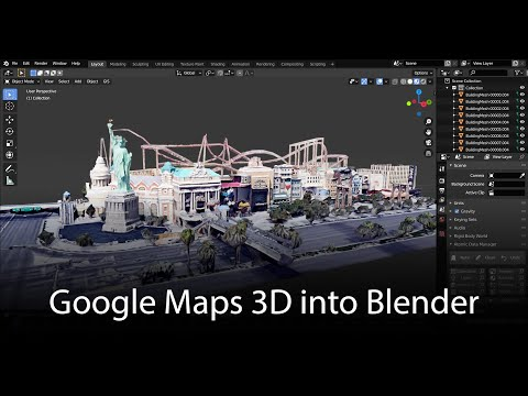 Google Maps 3D: Data into Blender