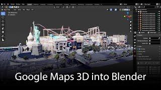 Google Maps 3d: Data Into Blender