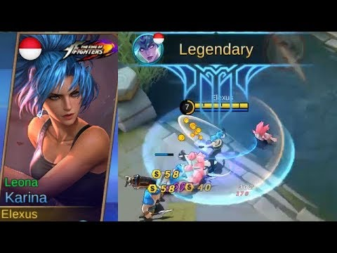 Karina Special FREE KoF Skin Leona Gameplay (Generous Moonton..?) - Bingo Event Mobile Legends