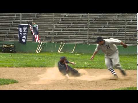 Gopher fails to burrow under tag at the plate.