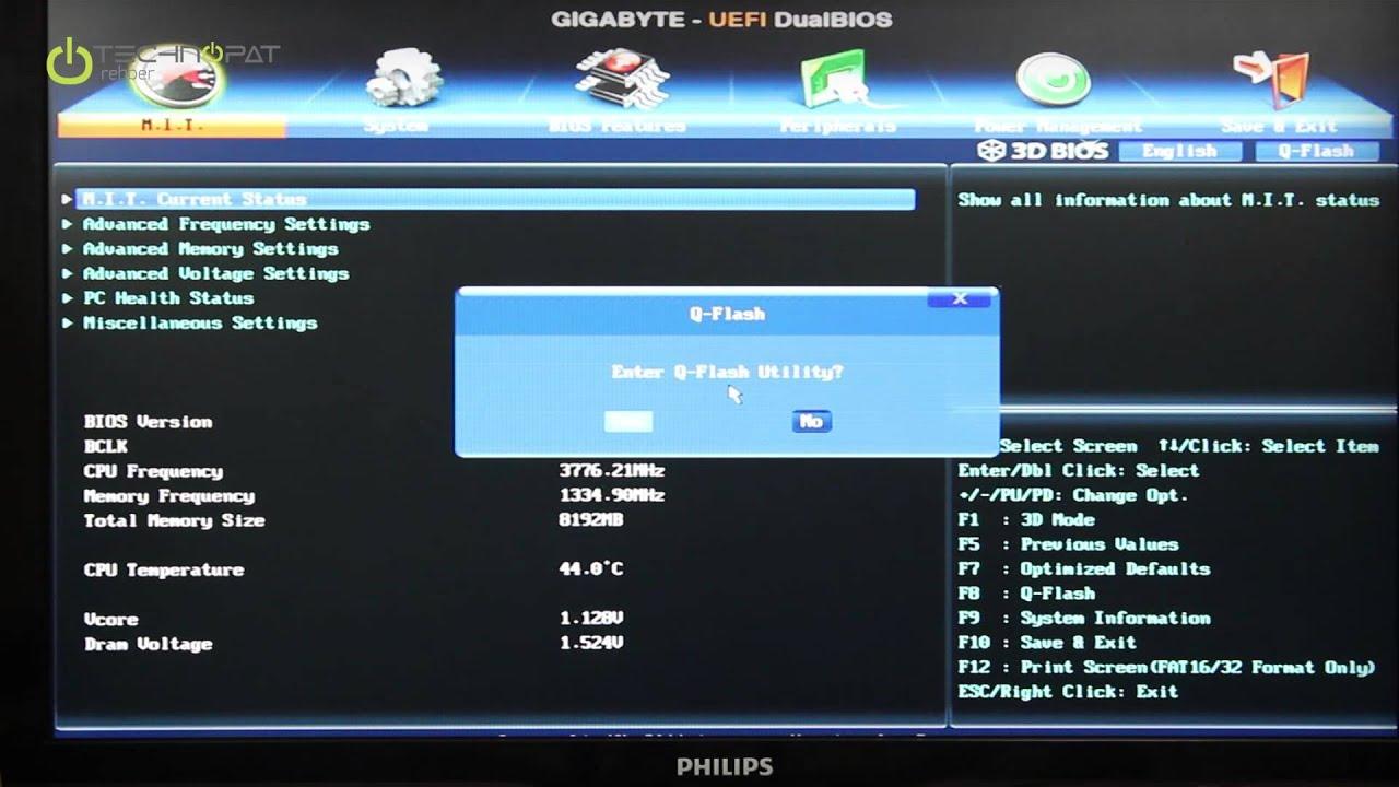 Gigabyte Q Flash BIOS Güncelleme Rehberi