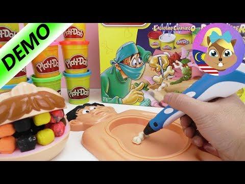 Eksperimen - Play Doh Dr. Bibber vs Pen 3D- Bentuk sambil lukis