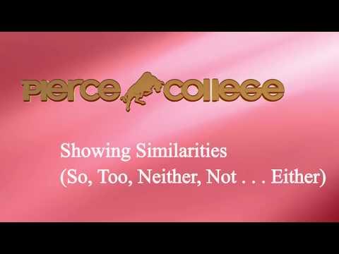 Showing Similarities  PIERCE COLLEGE