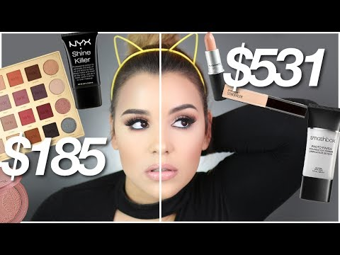 FULL FACE DRUGSTORE VS HIGHEND MAKEUP TUTORIAL! | TESTING OUT DUPES!