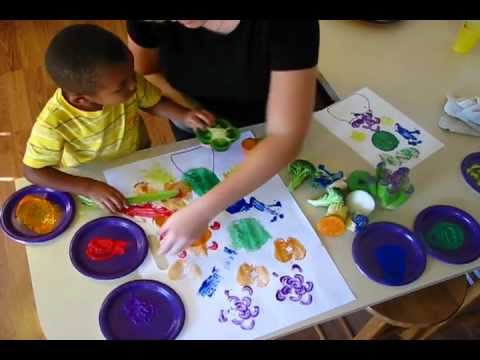Painting With Fruits And Veggies YouTube