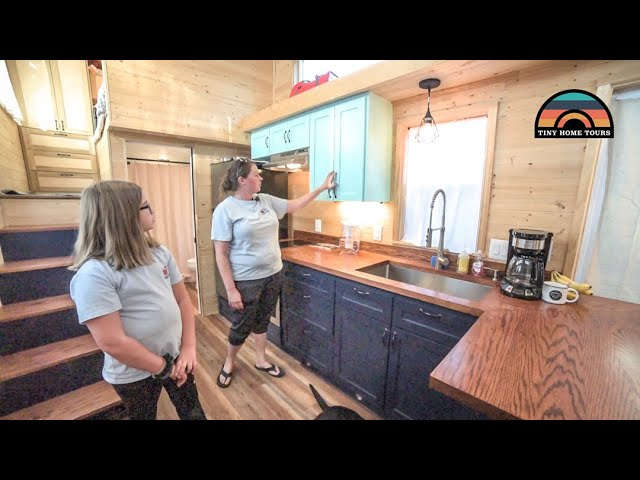 Single Mom & Young Daughter Team Up To Design A Beautiful Tiny Home On Wheels
