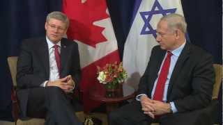 Repeat youtube video PM Netanyahu meets Prime Minister of Canada Stephen Harper