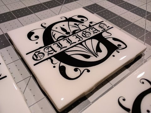 DIY: Monogram Tile Coaster with epoxy resin