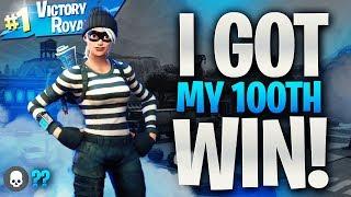 I GOT MY 100TH SOLO WIN LIVE! (NEW Double Barrel Shotgun HIGH KILL WIN FORTNITE 100TH WIN)