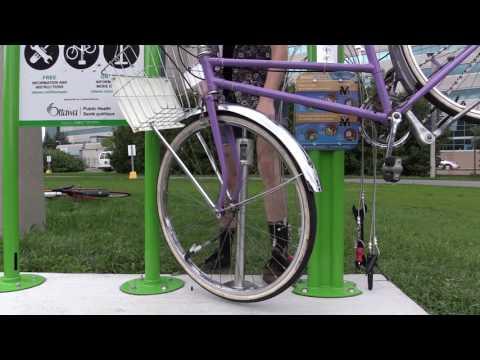 Bike repair station | How to pump a tire