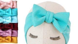 DIY Baby Turban Headband with Bow