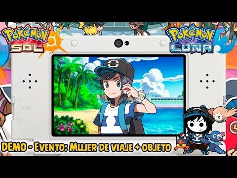 Evento FINAL: Mujer de viaje + Objeto - Demo Pokémon Sol y Luna