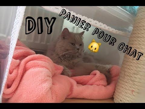 diy panier pour chat ou petit chien youtube. Black Bedroom Furniture Sets. Home Design Ideas