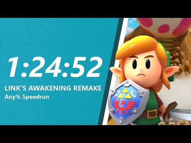 Link's Awakening Remake Any% Speedrun in 1:24:52