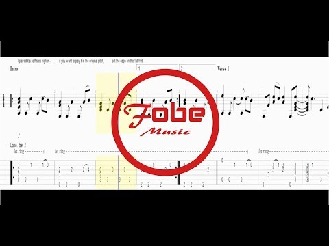 Tommy Emmanuel - Blue Moon / Guitar Acoustic Tab HD