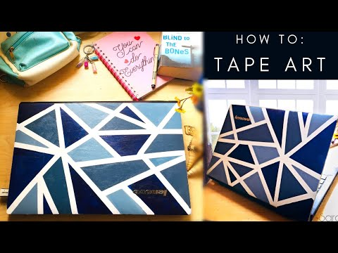 Tape Art Painting on Laptop Tutorial | SAVE YOUR MONEY | DIY Customize Laptop Skin | LAPTOP ART |