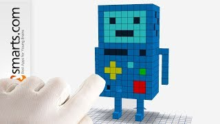 Surprise Box: Adventure Time BMO (Minecraft Stye) - creative play for Kids (Qbics Paint)