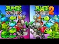 Pvz 1 vs. Pvz 2 Compare Zombies and Plants Gameplay Plants vs Zombies 2