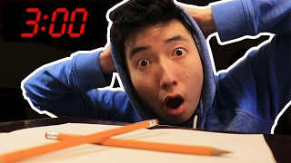 CHARLIE CHARLIE PENCIL CHALLENGE AT 3:00 AM!!!