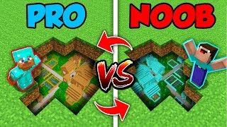 Minecraft NOOB vs. PRO : SWAPPED HIDDEN VILLAGE in Minecraft (Compilation)