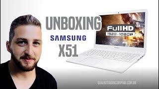 Unboxing Novo Notebook Samsung Expert X51 com Core i7 de 7ª Geração