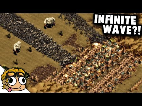 INFINITE FINAL WAVE?! | They Are Billions Custom Map Gameplay