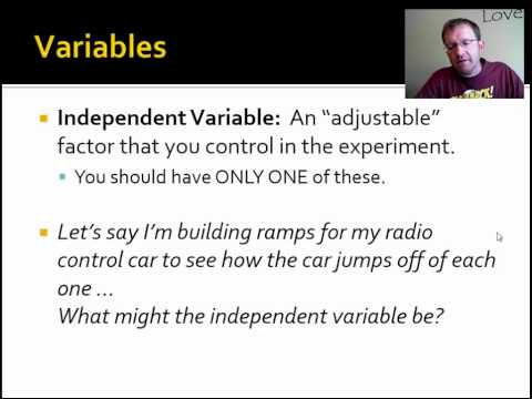 1.4: Types of Variables in an Experiment
