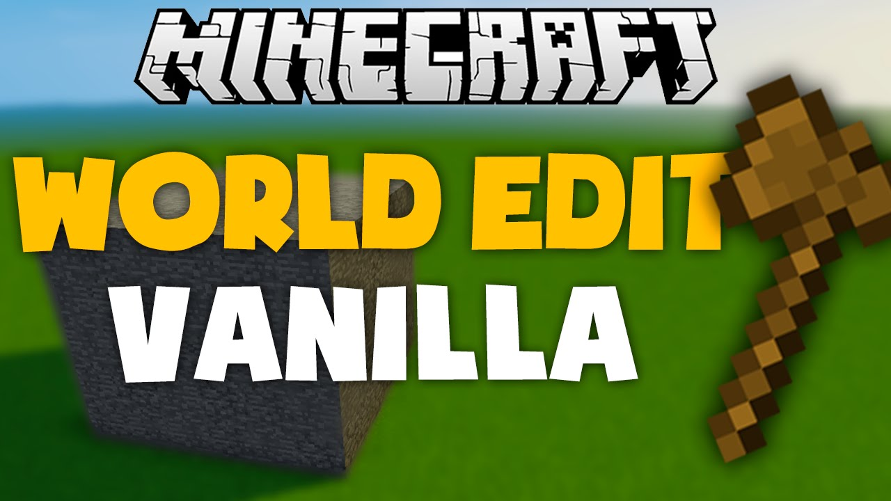 WORLD EDIT VANILLA - Minecraft Tutorial