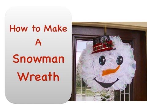 How To Make Snowman Wreath Youtube